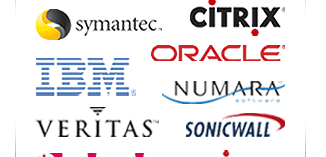 Symantec, Citrix, IBM, Oracle, Veritas, Numara, Sonicwall